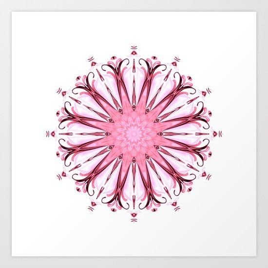 Sanskrit pink Art Print