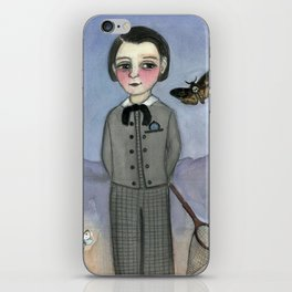 """Gideon and the Death's Head"", A Victorian Foundling Portrait iPhone Skin"