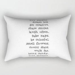 Live simply Rectangular Pillow