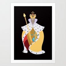 Queen Wolf Art Print