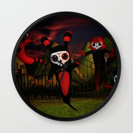Ghost Night Wall Clock