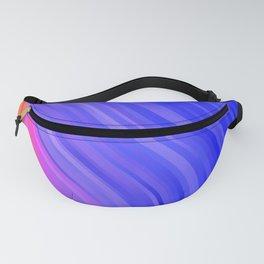 stripes wave pattern 1 mv Fanny Pack