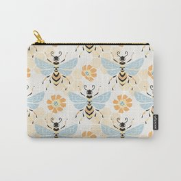 Honey Bee Abstract Pattern Carry-All Pouch