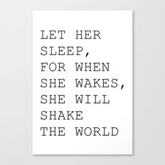 Let her sleep Canvas Print