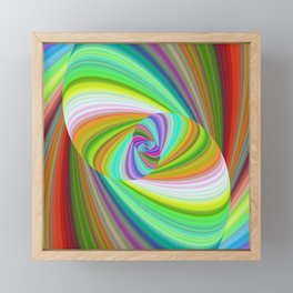 Happy summer ellipse magic Framed Mini Art Print