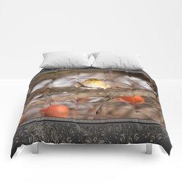 American Goldfinch in Winter Comforters