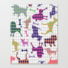 Houndstooth Hounds Canvas Print