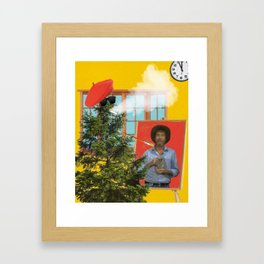 Tree Paints Bob Ross Framed Art Print