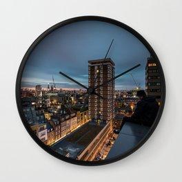 London, sitting on the edge Wall Clock