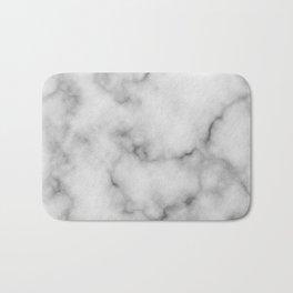 White Marble Pattern Bath Mat