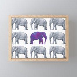 Elephants II Framed Mini Art Print