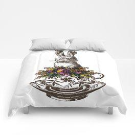 Rabbit in a Teacup Comforters