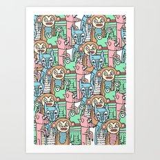 FUNNY ANIMALS Art Print