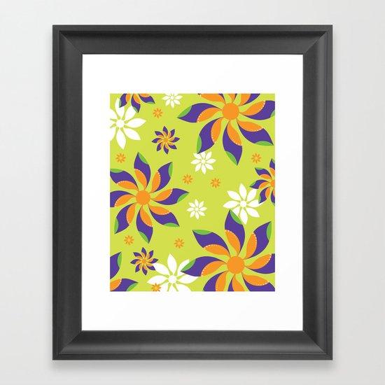Flowerswirl Framed Art Print