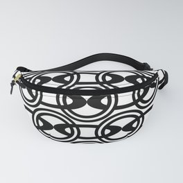 Chain Links - Black and White Fanny Pack