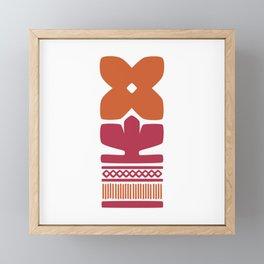 Nordic Orange Flower Framed Mini Art Print
