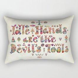 Devil's Tools Rectangular Pillow