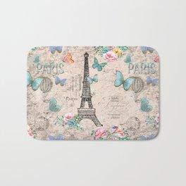 Paris - my love - France Nostalgy - pink French Vintage Bath Mat