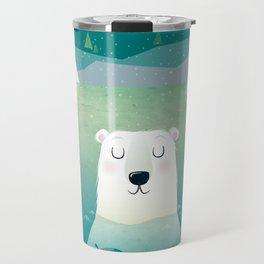 Happy Polar Bear Travel Mug