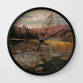 Tom Thomson - Spring in Algonquin Park - Canada, Canadian Oil Painting - Group of Seven Wall Clock
