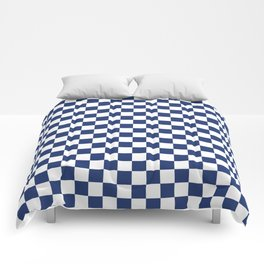 Navy Checkerboard Pattern Comforters