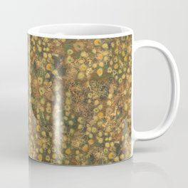 Golden Meadow, Abstract Floral Pattern,  Fiber Texture, Felted Wool  Coffee Mug