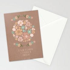 Plant a Garden Stationery Cards