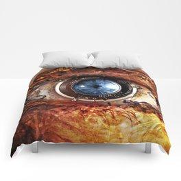 Steampunk camera's eye. Comforters
