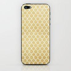 Mermaid Tail Pattern  |  Gold Glitter iPhone & iPod Skin