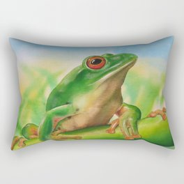 Green Treefrog Rectangular Pillow