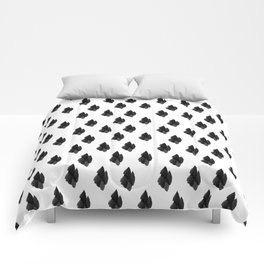 Falling for you black and white pattern Comforters