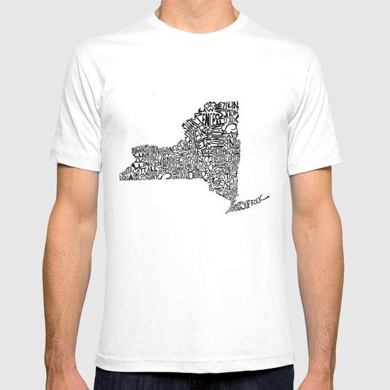 Typographic New York T-shirt