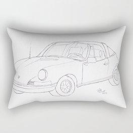 1970 911 Targa Rectangular Pillow