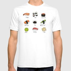 Sushi Days SMALL White Mens Fitted Tee