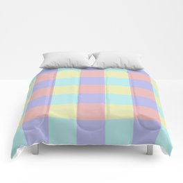 Plaid Blue Soft Yellow Rose Blush Lavender Cyan Tetradic Colour Blocks Comforters