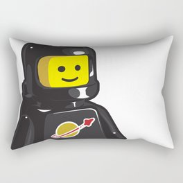Vintage Black Spaceman Minifig Rectangular Pillow