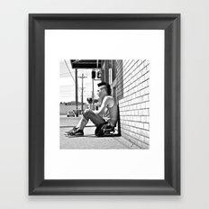 Tacoma skater Framed Art Print