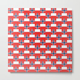 Mix of flag: norway and poland Metal Print
