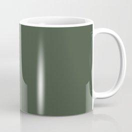 BLACK FOREST dark green solid color  Coffee Mug