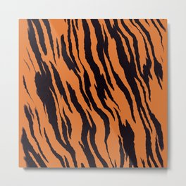 Tiger Pattern Print Metal Print