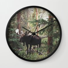 The Modest Moose Wall Clock