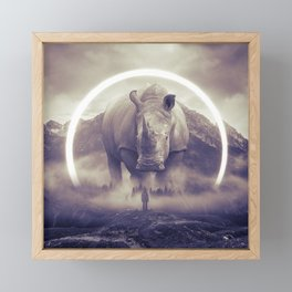 aegis II | rhino Framed Mini Art Print