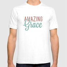 Amazing Grace Mens Fitted Tee White SMALL
