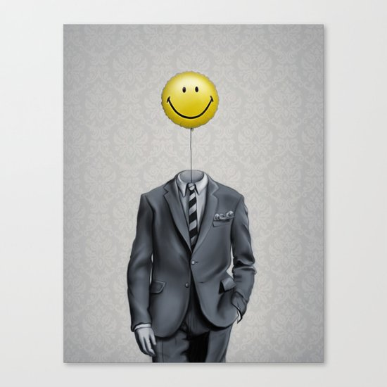 Mr. Smiley :) Canvas Print