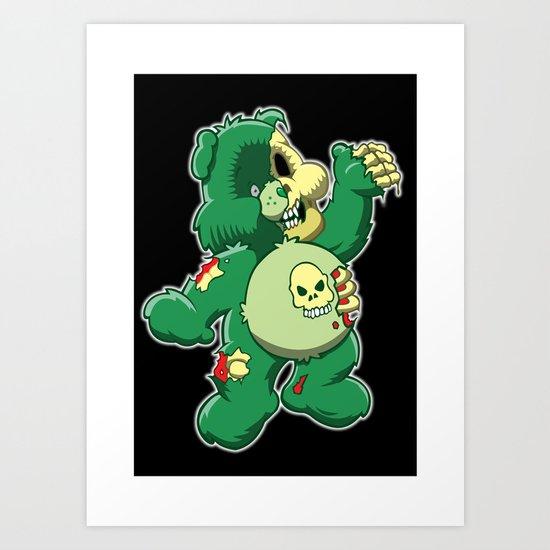 Zombie care bear Art Print