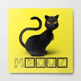 Meouz Cat Metal Print