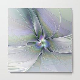 Rising Up, Abstract Fractal Art Metal Print
