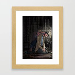 In a cage Framed Art Print