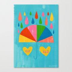 Umbrella Hearts Canvas Print