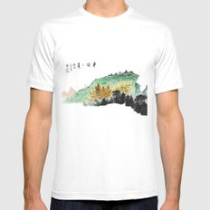Spring of Pin-Din White MEDIUM Mens Fitted Tee
